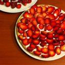 crostata panna e fragole