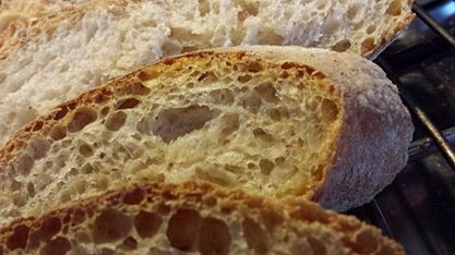 Pane con lievito madre e farina 0