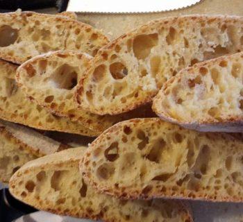 Pane senza impasto con esubero