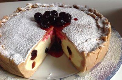 Torta semifreddo con crema e amarene Bimby