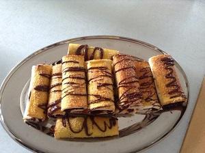 Rotolini dolci con Nutella