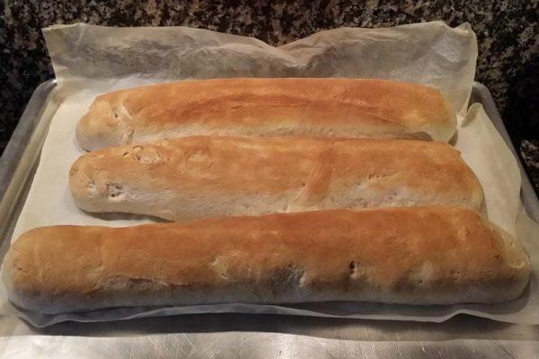 Pane bruschetta con lievito madre
