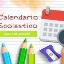 Calendario scolastico 2019 / 2020
