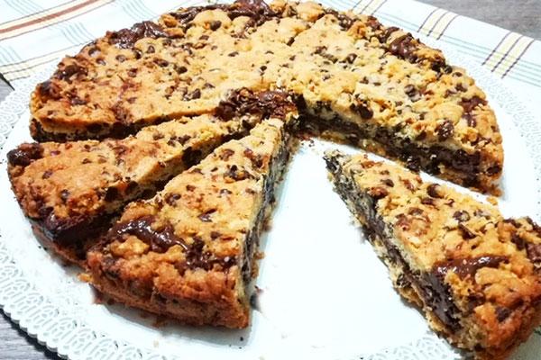 Crostata cookie alla nutella