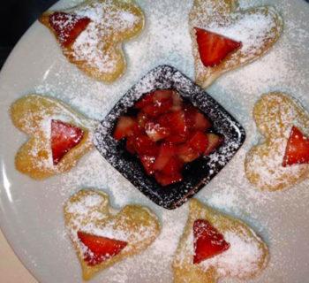 Cuori di mascarpone e fragole