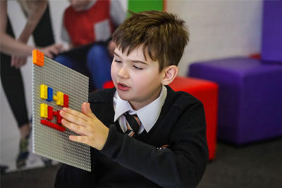 Mattoncini Lego in Braille